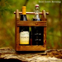 Bomber Carrier  Four Pack Carrier  Beer Bottle by coldcreekbrewing, should get or have made for dad
