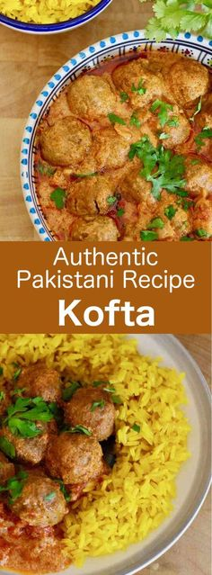 Kofta curry is a recipe for deliciously spiced traditional Pakistani meatballs that are served in a creamy sauce and saffron rice meatball Pakistan # Curry Recipes, Meat Recipes, Indian Food Recipes, Asian Recipes, Cooking Recipes, Ethnic Recipes, Pakistani Food Recipes, Pakistani Desserts, Pakistani Dishes