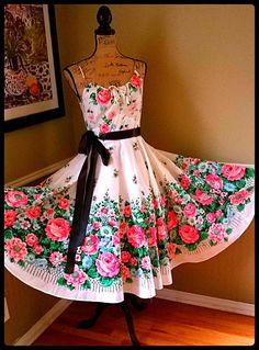 Darling VINTAGE dress/ 50's 60's/ Tea dress/ by PussycatAlice, $96.00