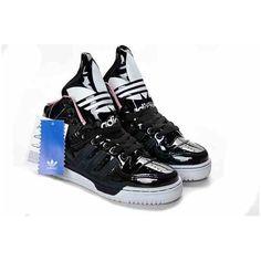 new product 6e0b2 85c0a Adidas M Attitude Logo W Black Trainers Jeremy Scott Adidas, Women s Shoes,  Black Shoes