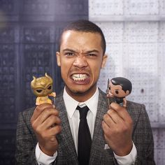 Jacob Anderson posed with #GreyWorm and one of the Sons of the Harpy in the @instagram studio at the #GoTPremiereLA.