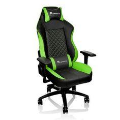 Thermaltake GC-GTC-BGLFDL-01 Tt eSPORTS GT Comfort C500 Big & Tall Racing Bucket Seat Style Ergonomic Gaming Chair Black/Green: Amazon.com.mx: Electrónicos