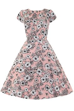Perfectly Pink Floral Day Dress | Lady Vintage.