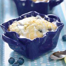 Lemon Blueberry Cornmeal Cakes: King Arthur Flour