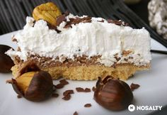 Gesztenyepüré-torta | NOSALTY Vanilla Cake, Camembert Cheese, Tapas, Cheesecake, Food And Drink, Sweets, Ethnic Recipes, Desserts, Easy Meals