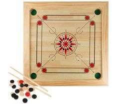 Add this Hey! Carrom Board Game- Classic Strike and Pocket Table Game to your family game night rotation! Carrom Board Game, Shuffleboard Games, Skittles Game, Pocket Game, Thing 1, Family Game Night, Adult Games, Table Games, Games To Play