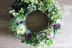 葉牡丹リースギャザリング-季節の花の寄せ植え- by 華もみじ フラワー・ガーデン その他