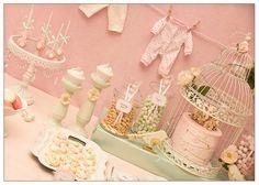 Vintage Birdie Baby Shower with Such ADORABLE IDEAS via Kara's Party Ideas   KarasPartyIdeas.com #Bird #Christening #Blessing #PartyIdeas #PartySupplies #BabyShower