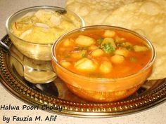 Halwa, Cholay and Poori recipe