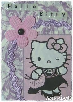 Hello Kitty Theme ATC