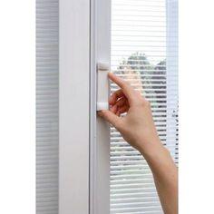 30 in. x 80 in. Internal Mini Blinds Clear Glass 1/2 Lite 2-Panel ...