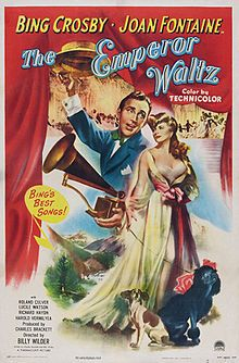 The Emperor Waltz is a 1948 American musical film directed by Billy Wilder and starring Bing Crosby and Joan Fontaine.man in Austria at the turn of the twentieth century who tries to convince Emperor Franz Joseph to buy a gramophone so the product will gain favor with the Austrian people.