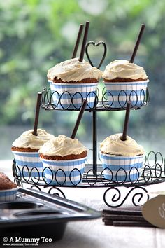 Banana and Clotted Cream Cupcakes | A Mummy Too