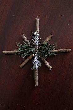 rustic twig snowflake