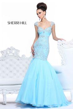 2013 Sherri Hill 21036 Light Blue Homecoming Dresses