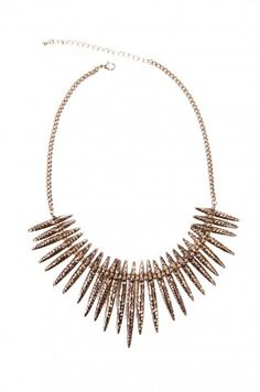 Thorn Spike Set in Gold by ShopAKIRA | Thorn Necklace | ShopAKIRA.com