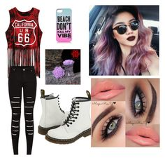 """""""Girls Night Out"""" by missravenswood ❤ liked on Polyvore featuring Dr. Martens and Juicy Couture"""
