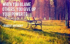 how to stop playing the blame game