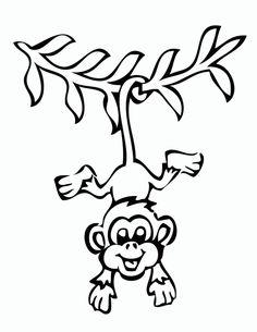 Free printable monkey coloring page | cj 1st birthday | Pinterest ...
