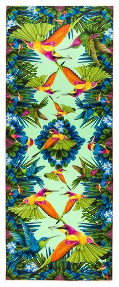 Hummingbird Scarf by Fabric Frontline http://www.fabricfrontline.ch/en/