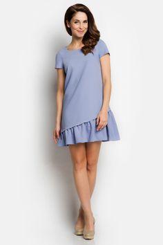 Awama A100 Sukienka - niebieski