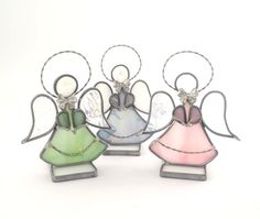Stained Glass Angels Small Handcrafted Choice of by Nostalgianmore, $21.95