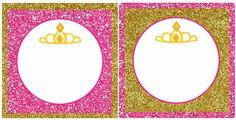 Mamma Mia Party Studio: Mini Kit etiquetas Corona de Princesas