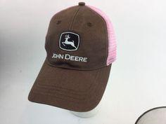 11.29$  Buy now - http://vitgo.justgood.pw/vig/item.php?t=ksl95to14801 - John Deere Ladies Pink Brown Bill Hat Cap Adjustable Mesh Snap Back