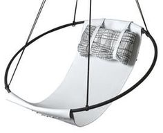 Sling Hanging Swing Chair   White  Contemporary, Industrial, Transitional, Metal, Armchairs  Club Chair by Studio Stirling