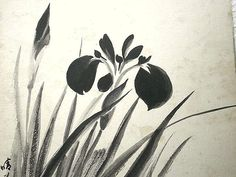 Vintage Japanese Painting Flower in Showa by VintageFromJapan, $25.00