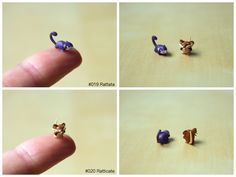 Oh my Goodness how tiny are these!!!  Rattata and Ratticate by lonelysouthpaw.deviantart.com on @deviantART