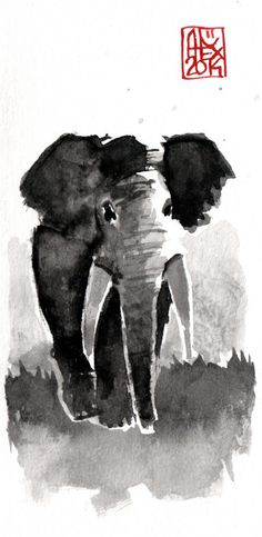 Aquarelle : Elephant