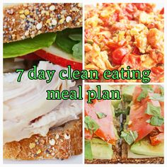 7 day clean eating meal plan | Clean Eating Diet Plan Meal Plan and Recipes