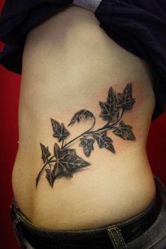black ivy tattoo on waist best celtic ivy tattoo design