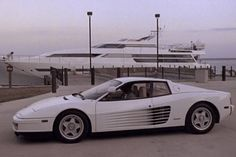 Miami Vice 1986 Ferrari Testarossa: Ferrari didn't like the black Daytona replica the 1984-'89 NBC series was using, so it provided two white Testarossas for Season Three.