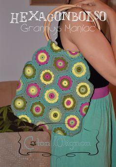 Bolso con grannys 1 crochet