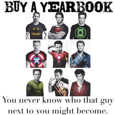 you never know who that guy next to you might become. buy a yearbook.