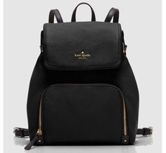 kate spade new york Cobble Hill Charley Backpack 2016 Off White School Bags For High School Lady Backpack Purse Back Bag Leather Backpack Black Morrales Classic Kate Spade Backpack, Backpack Purse, Crossbody Bag, Backpack Handbags, Black Backpack, Kate Spade Luggage, Small Backpack, Kate Spade Purse, Drawstring Backpack