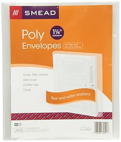 Smead Envelope  Expansion HookAndLoop Closure Side Load