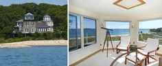 Beautiful!  Waterfront home in North Haven, N.Y., designed to resemble a lighthouse