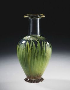 Well Spring carafe, glass, painted in enamel, designed Richard Redgrave, made by Stangate Glass Works for  Felix Summerly's Art Manufactures, 1847-1851, Victoria and Albert Museum