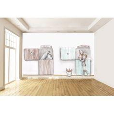 """Mural Infantil Personalizado """"HORSES"""""""