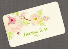 Business Card, Flower Branch Watercolor, Calling Card, Contact Card - Set of 40 by OlivineStationery on Etsy