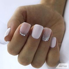 Trendy Square Nail Art Ideas For Short Acrylic These trendy Nail Designs ideas would gain you amazing compliments. Check out our gallery for more ideas these are trendy this year. Nails Trendy Square Nail Art Ideas For Short Acrylic Nails Pink Gel Nails, Short Gel Nails, New Year's Nails, Fun Nails, Stiletto Nails, Gel Manicure, White Short Nails, French Manicure Short Nails, Short French Nails