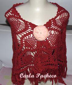 Tricotando com a Carla  Xale em Croche. Carla Pacheco 28fd7c5238c