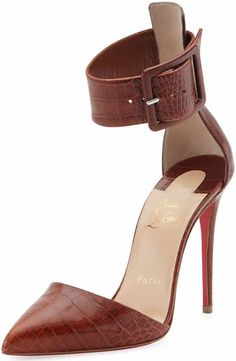 Christian Louboutin 'Harler' Pointed-Toe Ankle-Strap Pumps