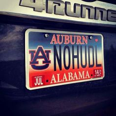 Alabama Roll Tide Metal Oval license plate 7 x 12 Tag City Auto tag