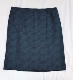 Ann Taylor Women's Fully Lined Knit Skirt Career Zip Back Dual Vents Size 12 #AnnTaylor #ALine