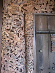 Viking Carvings by Birgit44, via Flickr(Those guys where very creative wood-carvers)