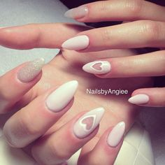 Full set acrylic with light pink gel color & silver glitter design #NailsbyAngiee